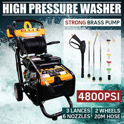 10HP 4800PSI High Pressure Washer Cleaner Petrol Water Gurney 30M Hose NEW AU