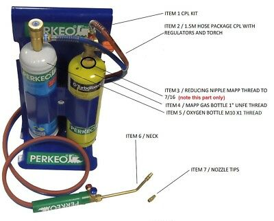 PERKEO POWER GAS BRAZING,WELDING KIT /  Please select your item from drop box