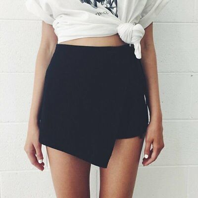 Fashion Women's Linen Irregular Hot Pants Fashion Girl Skirt Shorts Culottes HOT