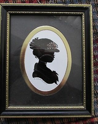 Signed Silhouette Miss Mary by Enid Elliott LINDER