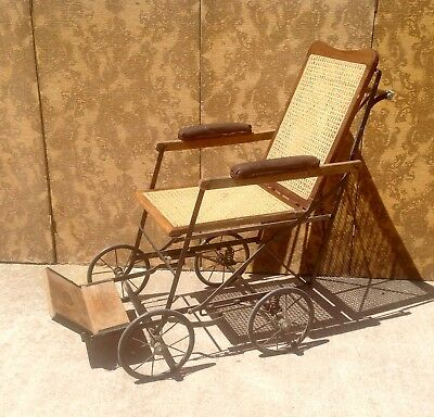 Antique Wheelchair, Allwin Vintage Wheelchair, Antique Invalid Carriage.