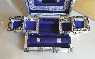 Vintage Silver plated jewellery box