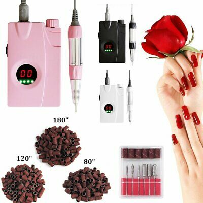 30000RPM Rechargeable LCD Electric Nail Drill Machine Portable Manicure Pedicure