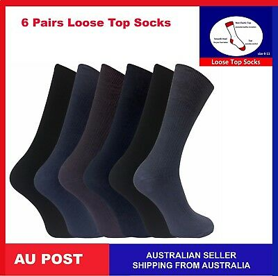 Mens womens Cotton Medical Circulation Diabetic LOOSE TOP SOCKS Bulk Size 2-8