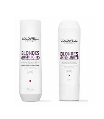 Goldwell BLONDES & HIGHLIGHTS ANTI GELBSTICH SHAMPOO 250 ml + CONDITIONER 200 ml