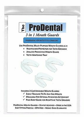 ProDental Teeth Grinding Night Guard - 3 Customizable for Comfort Dental Guards