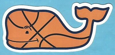 New Authentic Vineyard Vines Basketball Whale Sticker Decal