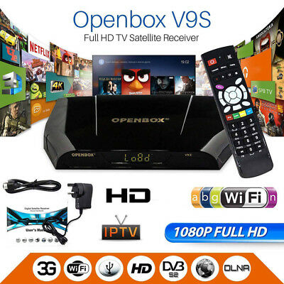 GENUINE OPENBOX V9S FULL HD Freesat PVR Digital TV Satellite Receiver Box UK