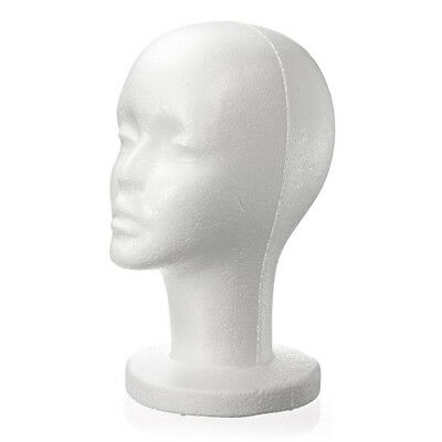 Fashion Female White Foam Styrofoam Mannequin Hat Cap Dummy Wig Head display SR
