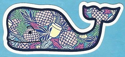 New Authentic Vineyard Vines Pineapple Chappy Whale Sticker Decal