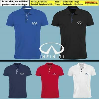 INFINITI Polo T Shirt EMBROIDERED Auto Car Logo Slim Fit Tee Gift Mens Clothing