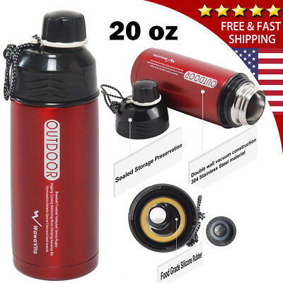 20 Oz Stainless Steel Vacuum Thermos Portable Insulated Travel Flask Mug Bottle