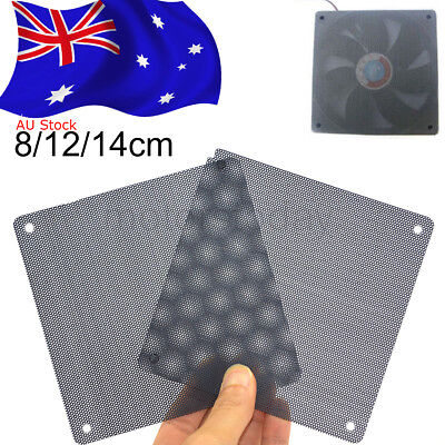 80 / 120 / 140 mm Cuttable PVC PC Fan Dust Filter Dust proof Case Computer Mesh
