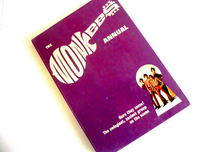 Rare Uk Hb Pop Book - The First Monkees Annual 1969 - Unclipped