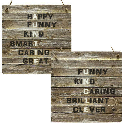 Auntie Gifts Uncle Gift Rustic Wooden MDF Meaning Plaque Vintage Sign Present
