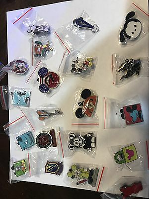 Lot of 25  - Disney Trader pins  -  Hidden Mickey and so much more!