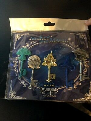 New Disney Pass holder 2012 Pin Set - Your Key To The Magic - Commemorative