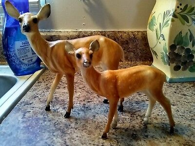Lot Of 2 Brier Whitetail Deer Doe And Fawn