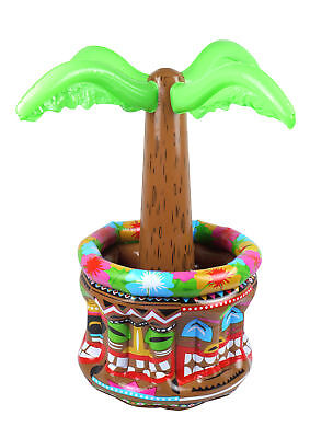 Inflatable Palm Tree Cooler - 66cm - Luau Hawaiian Party Prop Blow Up Drinks
