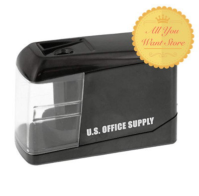 U.S. Office Supply Electric Pencil Sharpener - Battery or USB Powered, Sharpener