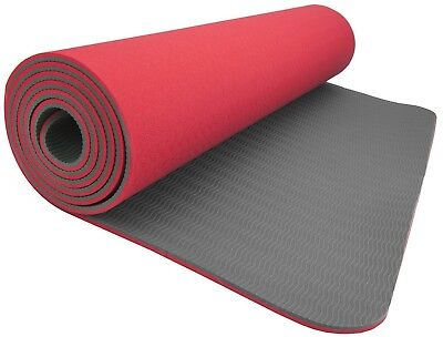 (Red - Gray) - Wacces High-Density Anti-Tear Non-Slip Double-Sided YOGA MAT