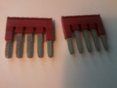 FBS5-5 Phoenix Contact Red Terminal Bridge Connector 5 Pin  FBS55  LOT OF 2 NEW
