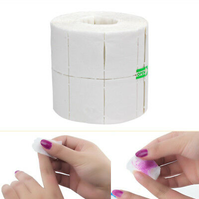 500Pcs/Roll Wipes Pads Paper Nail Art Tips Polish Manicure Remover Useful White