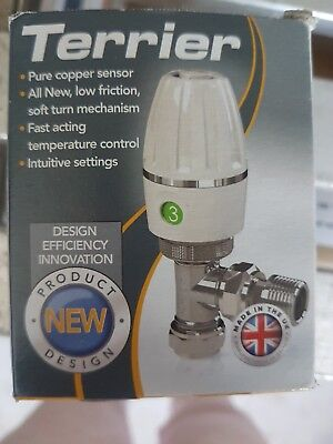 Pegler Terrier TRV Thermostatic Radiator Valve Angled Head 15mm New Type *BNIB*