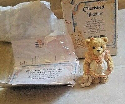 """Cherished Teddies by Patricia Hillman """"Child of Kindness"""" Item 624853 from 1993"""