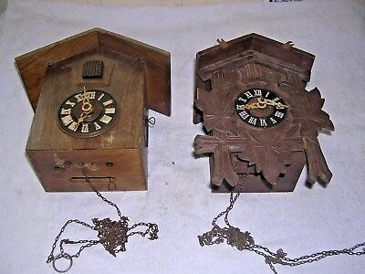 Clock  Parts , 2 Cuckoo  Clocks  , Spares Only
