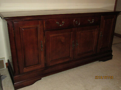 Solid Mahogany Wood Dining Room Set - Pickup Only
