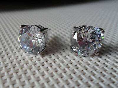 d2b51d843 NEW QVC DIAMONIQUE cz Sterling Silver 4.00 cttw Stud Earrings ...