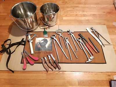 Professional Horse Equine Kit Farrier's Choice Tools Nipper Clincher Rasps Hoof
