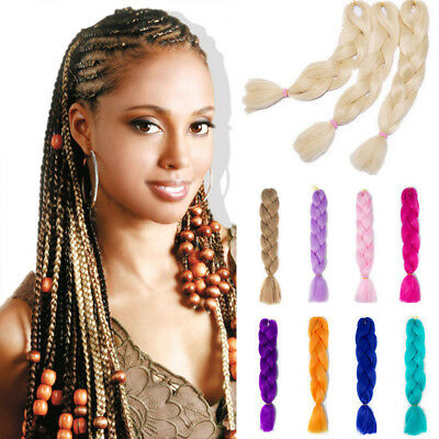 "24"" Ombre Xpression Jumbo Kanekalon Braiding Hair Extensions Afro Braid Blonde"