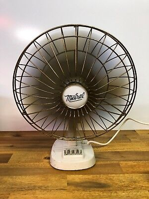 Vintage Mistral Oscillating Electric Fan Model Style 17 Made In Australia