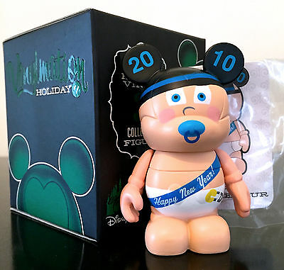 "Disney Vinylmation 3"" Holiday Series 1 Baby Happy New Year's Eve 2010 Toy Figure"