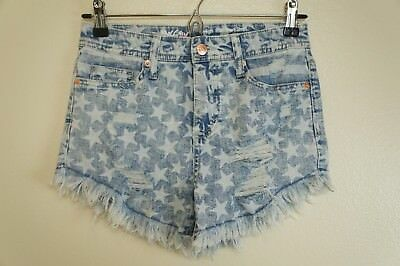 Women/'s Jean Star Print Cut Off Shorts Mossimo