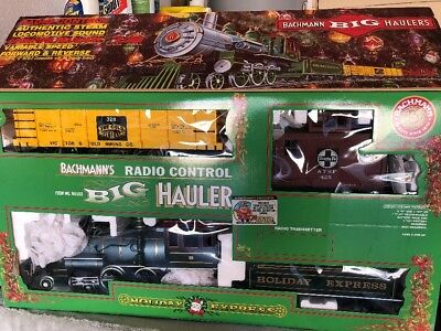 Backmann G Scale Big Hauler Rc Holiday Express Train Set Complete New
