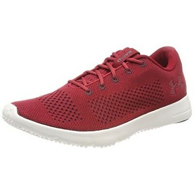 Under Armour Mens Trainers Rapid Lightweight Lace Up Mesh UA Running Shoes Red