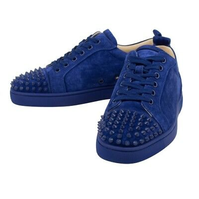 097d800fb5cd New CHRISTIAN LOUBOUTIN  Louis Junior  Blue Suede Spikes Sneakers Shoes 6 39