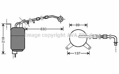 AVA COOLING SYSTEMS Bouteille déshydratante FDD111 pour Ford
