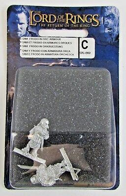 Games Workshop LOTR Sam Frodo in Orc Armour Armor Lord of The Rings FREE SHIP