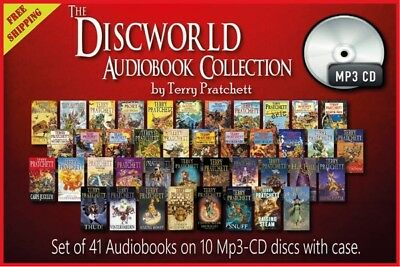 Collection of 41 AUDIOBOOKS – The Discworld by Terry Pratchett CD-Mp3 Unabridged