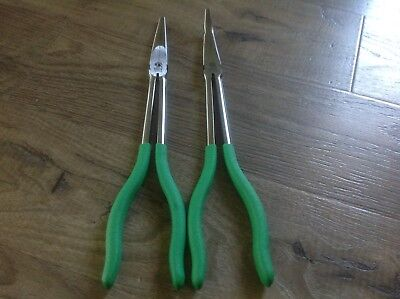 MATCO Tools 2-Piece Long-Reach Needle Nose Plier Set PNG110B & PNG111B Green NEW