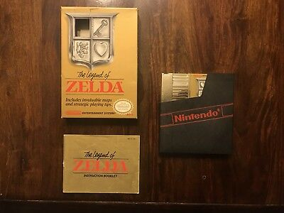 Nintendo The Legend of Zelda With Box and Manual NES