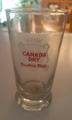 Lot Of 4 VTG Canada Dry Ginger Ale Soda Fountain Drinking GLASS  Fountain Fresh