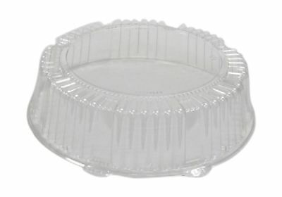CaterLine Plastic Round Catering Tray Dome Lid, 12-Inch Diameter x 2.75-Inch ...