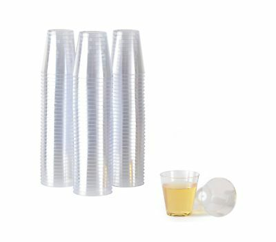 2 oz. Crystal Clear Plastic Shot Cups | Disposable, Reusable Shooters |Bulk- ...