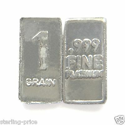 1 Troy Grain PLATINUM Bullion Bar Pure.999 Fine Platinum Mini Bar FREE USA SHIP