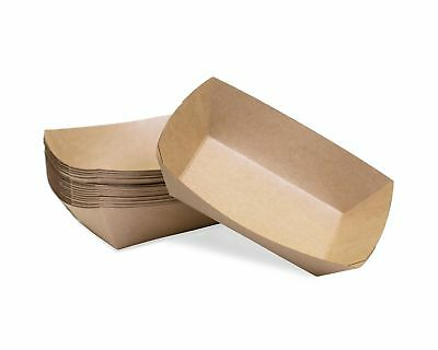 Large (2 Lb.) Kraft Paper Food Tray | 25 Ct